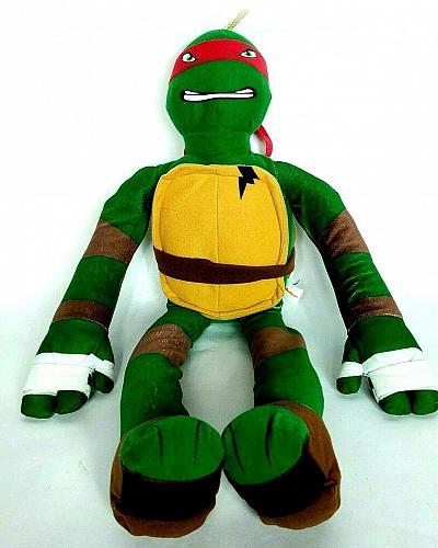 """Teenage Mutant Ninja Turtles Raphael Plush Stuffed Animal Nickelodeon 2014 28.5"""""""