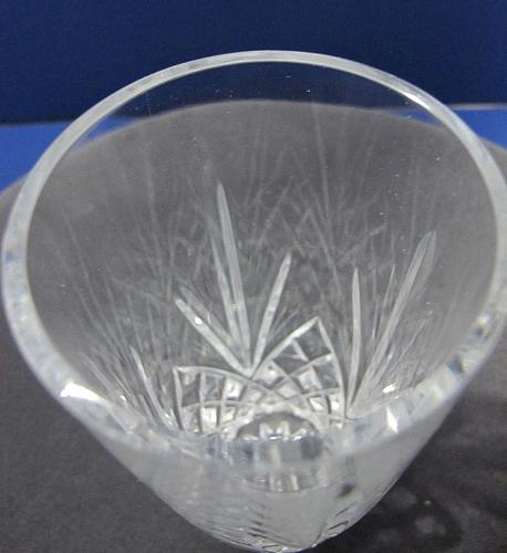 Signed Lenox chesapeake glass Crystal sm. vase Made in USA