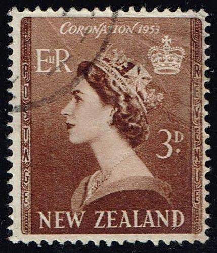 New Zealand #281 Queen Elizabeth II; Used Spacefiller (0.25) (0Stars) |NWZ0281-02