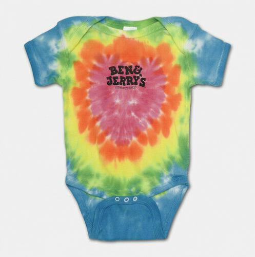 Ben & Jerry's Ben & Jerry's Baby one piece , Tie Dye Fast Free Delivery