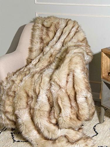 """Throw Blanket Faux Fur Lounge Couch Sofa Bed Accent Piece Home Decor 58"""" x 60"""""""