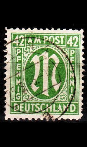 GERMANY Alliiert AmBri [1945] MiNr 0031 B ( O/used )