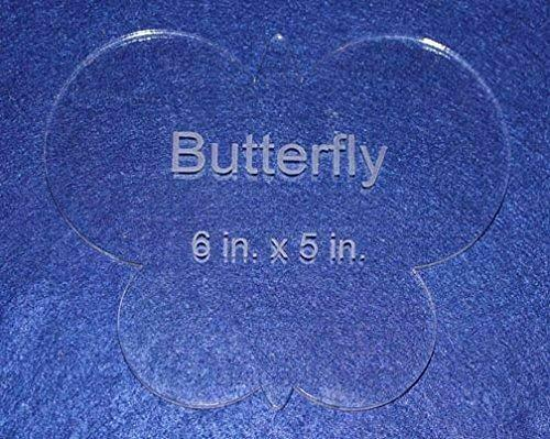 """Butterfly 6"""" X 5"""" - Clear ~1/4"""" Thick Acrylic"""