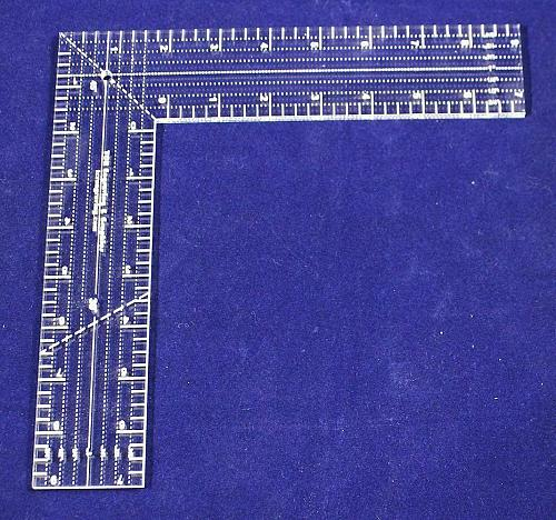 """9"""" L-Shaped Ruler. Acrylic ~1/4"""" thick. Quilting/Sewing - Acrylic"""