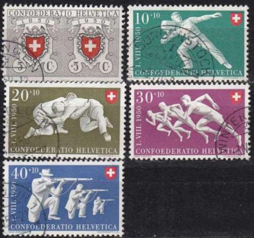 SCHWEIZ SWITZERLAND [1950] MiNr 0545-49 ( O/used ) Pro Patria
