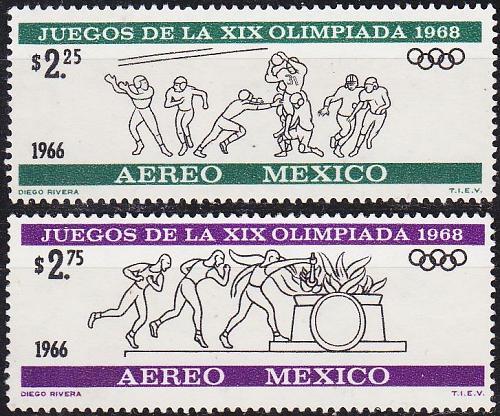 MEXICO [1966] MiNr 1217,18 ( **/mnh ) Olympiade