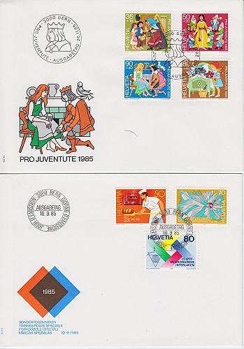 SCHWEIZ SWITZERLAND [1985] Jahr ex ( FDC )