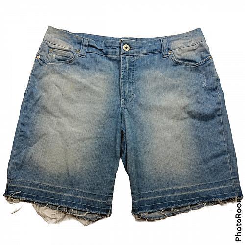 Jeanstar Bermuda Cutoff Jean Shorts Size 14 Light Blue Pockets Stonewashed