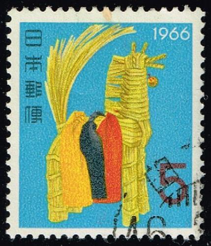 Japan #858 Straw Horse; Used (2Stars) |JPN0858-18XVA