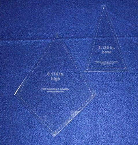 """2 Piece """"Fan or Kite"""" Shape Set - Quilting Template -1/8"""" Clear Acrylic"""