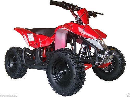 Electric Battery Four Wheeler Quad 24V Ride On Toys Kids Boys Girls Rubber Tires