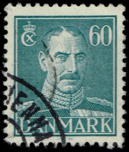 Denmark #287 King Christian X; Used (3Stars) |DEN0287-05XRS