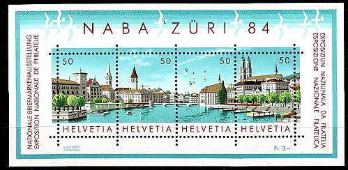 SCHWEIZ SWITZERLAND [1984] MiNr 1276-79 Block 24 ( **/mnh ) Briefmarken