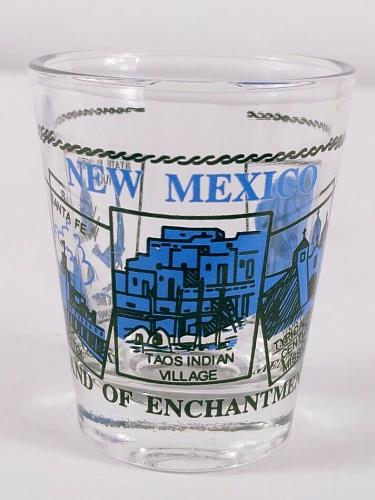 """New Mexico Land Of Enchantment Roadrunner Yucca 2.25"""" Collectible Shot Glass"""