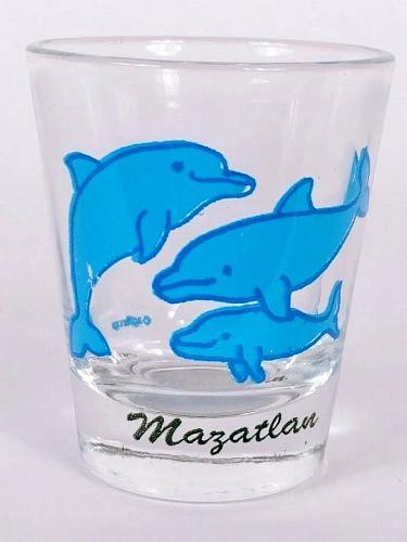 """Mazatlan Mexico Dolphins 2.25"""" Collectible Shot Glass"""