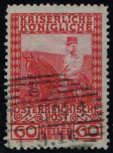 Austria #122 Franz Josef on Horseback; Used (0.25) (3Stars) |AUT0122-09XBC