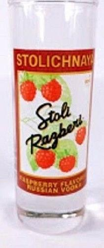 "Stolichnaya Raspberry Flavored Russian Vodka 4"" Collectible Shot Glass"