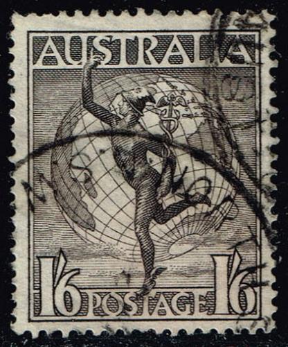 Australia #C6 Mercury and Globe; Used (0.60) (2Stars)  AUSC06-06XBC
