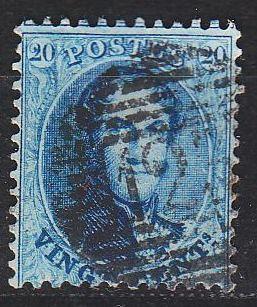 BELGIEN BELGIUM [1863] MiNr 0012 B ( O/used )