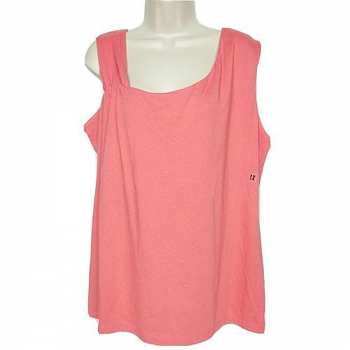NWT Dressbarn Sleeveless Top Size 14/16 Orange Gathered Shoulder Shelf Bra