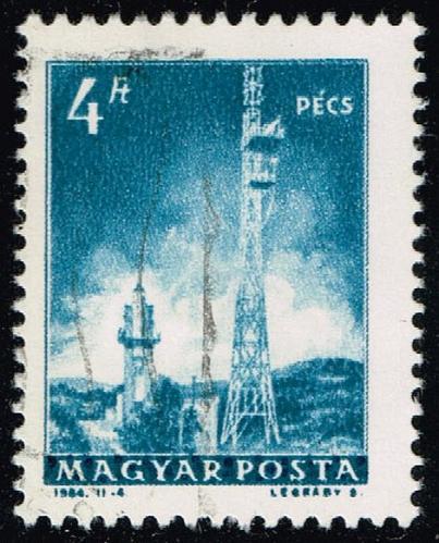 Hungary #1524 Television Transmitters; CTO (0.25) (2Stars) |HUN1524-02