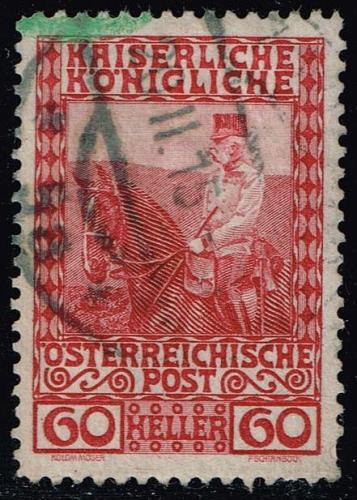 Austria #122 Franz Josef on Horseback; Used (0.25) (2Stars) |AUT0122-08XBC