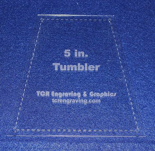 """5"""" Tumbler Quilt Template - With Seam Allowance/Holes -Clear 1/8"""" Acrylic"""