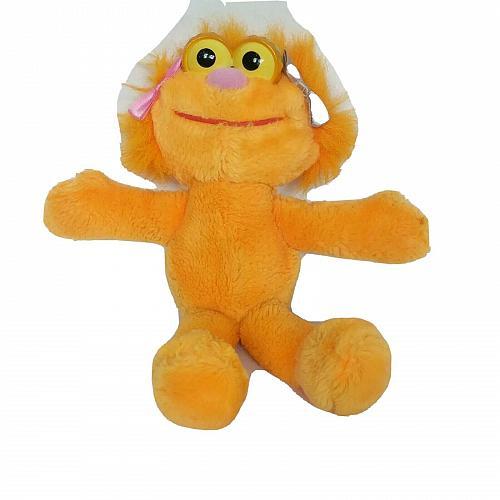 "Sesame Street Zoe Orange Jim Henson Muppet Plush Stuffed Animal 9.5"""
