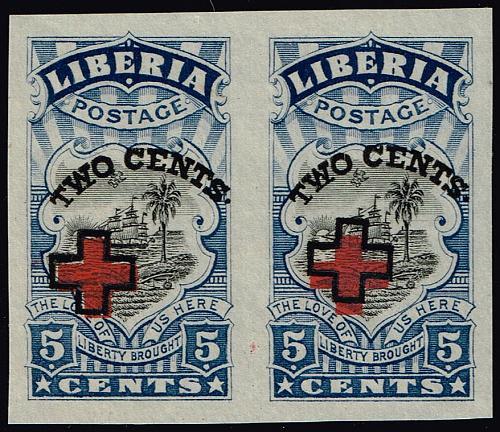 Liberia #B5a Symbols of Liberia Imperf Pair; MNH (5Stars) |LBRB05a-01XRP