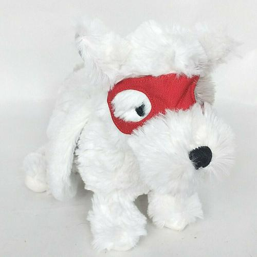 """Aden Anais Winged Puppy Dog with Red Mask Gray White Plush 11.5"""""""