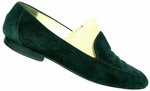 Paloma Women's Black Suede Leather Slip On Bicycle Toe Loafers Size 10 B