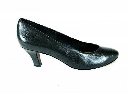 Easy Spirit Blue Leather Slip On Pumps Kitten Heels Shoes Women's 6 1/2 B (SW11)