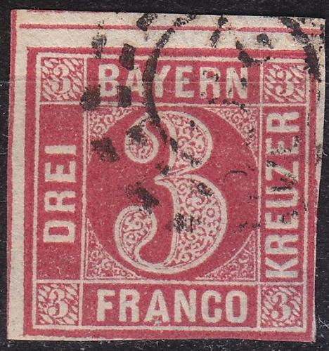 GERMANY Bayern Bavaria [1862] MiNr 0009 a ( O/used ) [02]