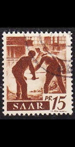 GERMANY Saar [1947] MiNr 0212 ( O/used )