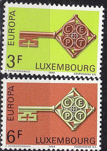 LUXEMBURG LUXEMBOURG [1968] MiNr 0771-72 ( **/mnh ) CEPT
