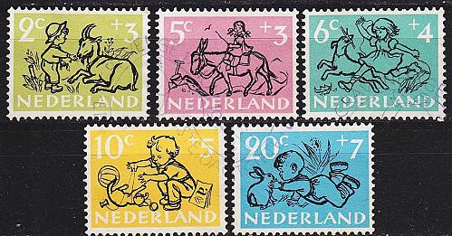 NIEDERLANDE NETHERLANDS [1952] MiNr 0601-05 ( O/used )