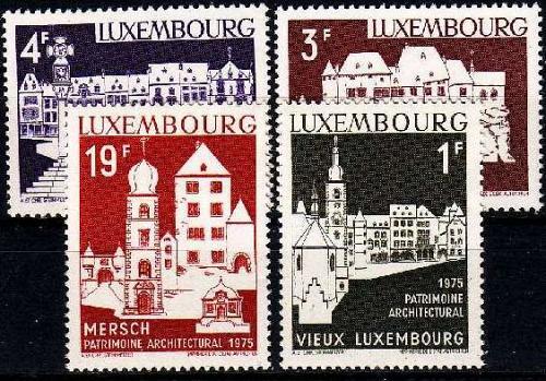 LUXEMBURG LUXEMBOURG [1975] MiNr 0900-03 ( **/mnh ) Bauwerke