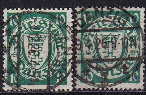 GERMANY REICH Danzig [1924] MiNr 0194 x,y ( OO/used ) [01]
