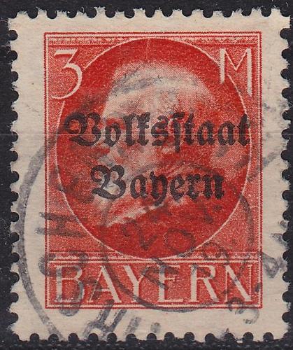 GERMANY Bayern Bavaria [1919] MiNr 0130 II A ( O/used )