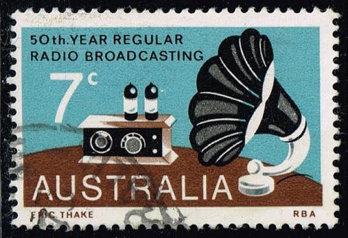 Australia #588 Broadcasting; Used (0.25) (3Stars) |AUS0588-06XBC