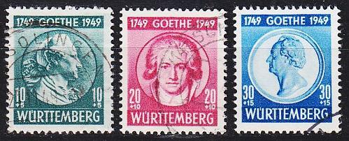 GERMANY Alliiert Franz. Zone [Württemberg] MiNr 0044-46 ( O/used ) [01]