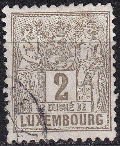 LUXEMBURG LUXEMBOURG [1882] MiNr 0046 a C ( O/used )