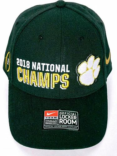2018 National Champs Clemson Tigers College Football Men's Hat Adjustable