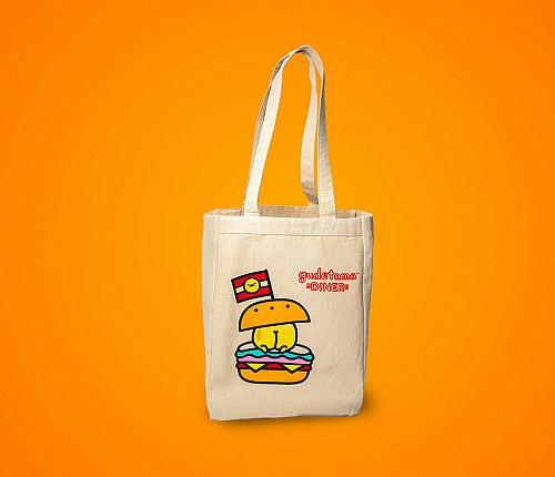 New Hello Kitty Gudetama Diner Burger Tote Sanrio Free Shipping
