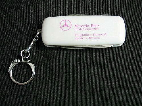 Vintage Mercedes Benz Folding Pocketknife Keychain Freightliner RARE Knife Chain
