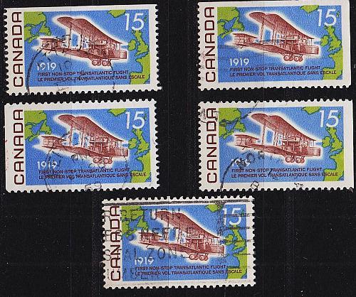 KANADA CANADA [1969] MiNr 0436 ( O/used ) [01] Flugzeug div Zähnungen