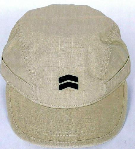 A Kurtz Men's Tan Chevron Tonal Military Cap Hat Adjustable