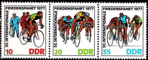 GERMANY DDR [1977] MiNr 2216-18 WZd346 ( **/mnh ) Sport