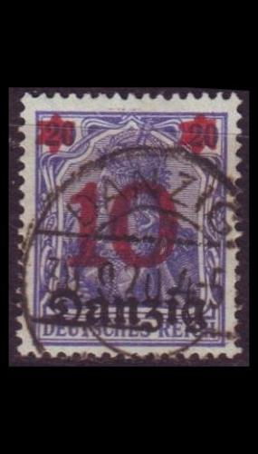 GERMANY REICH Danzig [1920] MiNr 0017 ( OO/used )