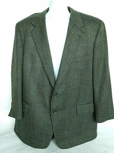 Brooks Brothers Men's 2 Button Suit Coat Size 48 Reg Fully Lined Gray Tweed